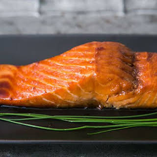 Sake Ginger Glazed Salmon.