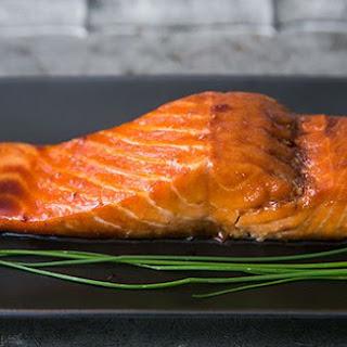 Sake Ginger Glazed Salmon.
