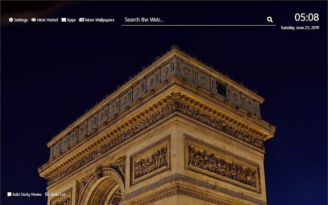 Paris at Night Wallpaper HD New Tab Theme©