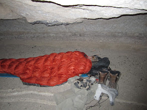 Photo: Its always good to be sleeping next to sheep droppings!