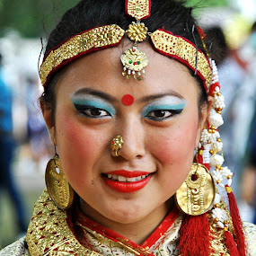 Tradition by Tapas Ghosh - People Musicians & Entertainers ( nepali girl, tradition )