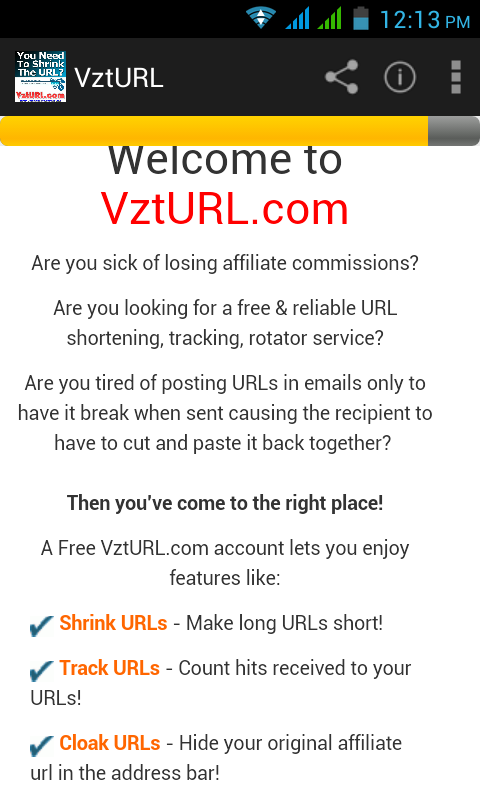 vzturl: Short & cloak Url- screenshot