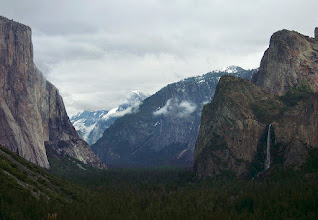 Photo: Tunnel View, Day 2, S95 #3590 -- El Capitan, Cloud's Rest, Half Dome, Sentinel Dome, Cathedral Rocks and Bridalveil Fall