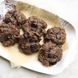 Flourless Chocolate Cherry Cashew Butter Cookies.