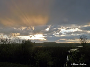 Photo: Heavenly crepuscular rays