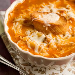 Tastes Like Lasagna Soup.