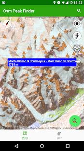 OSM Peak Finder - náhled