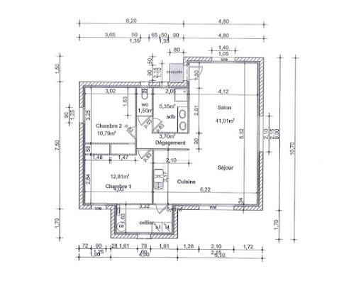Vente maison 3 pièces 80,5 m2
