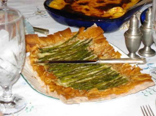 "Asparagus Gruyere Tart ""Is this not the prettiest presentation? And the robust..."