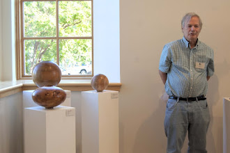 Photo: David Fry talks about his pieces, his history in woodturning, and inspiration.