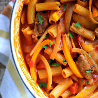 One Pot Sausage and Peppers Pasta