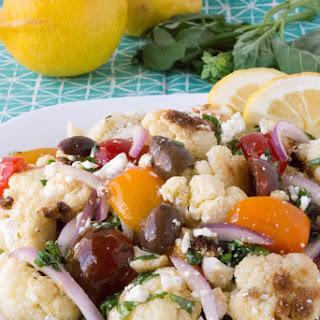 Mediterranean Roasted Cauliflower Salad