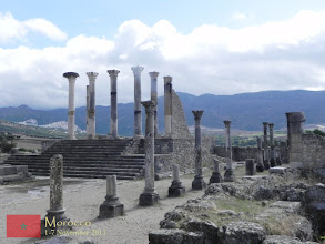Photo: ruins of the capitol in Volubilis