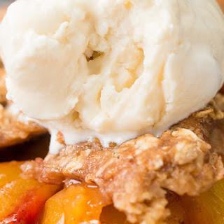 Healthier Skillet Peach Crisp Recipe