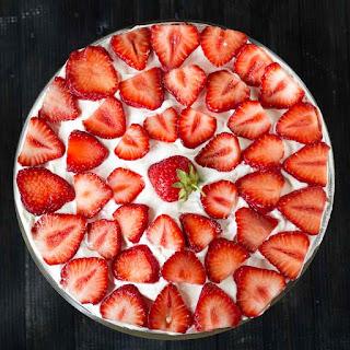 Strawberry Praline Trifle.