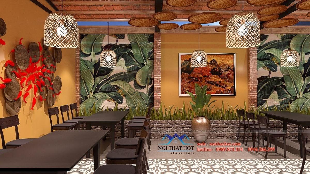 thiết kế nhà hàng đồng quê 2