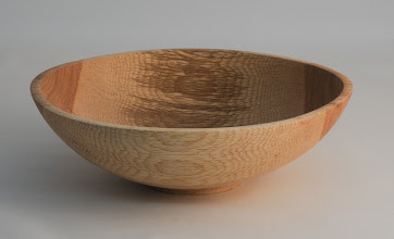 "Photo: Tim Aley 8"" x 2 1/2"" bowl [willow oak]"