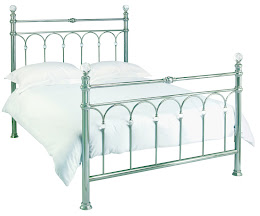 Stylish Metal Bedstead In Antique Nickel