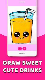 Download CDrawDrinks - Learn Draw cute Drinks, sweet, food For PC Windows and Mac apk screenshot 2