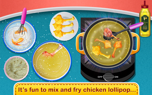 Chicken Lollipop-Cooking Maker  Street Food screenshot 3