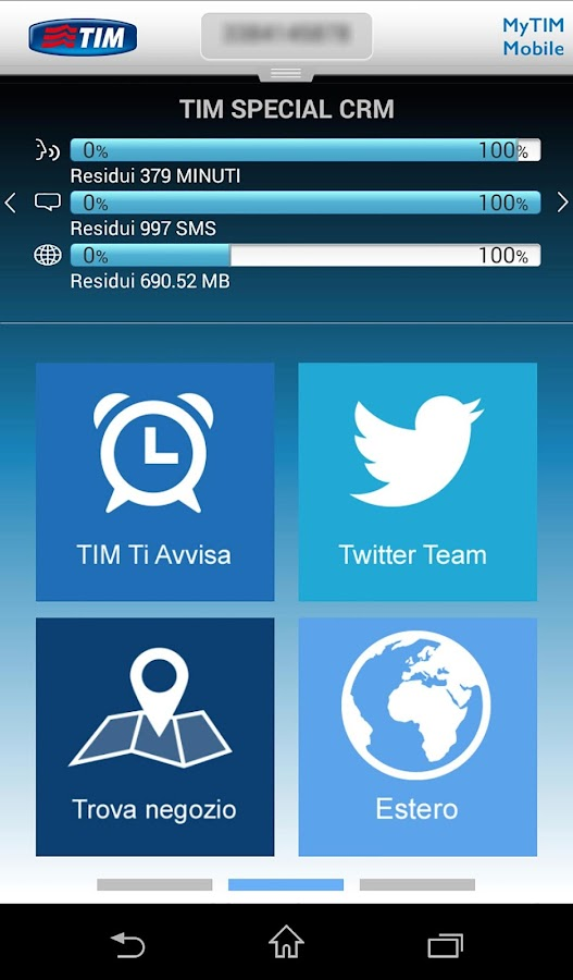 MyTIM Mobile- screenshot