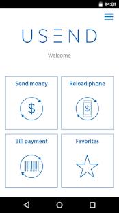 USEND - Send money worldwide - náhled