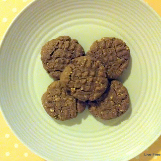 Peanut Butter Teff Cookies.