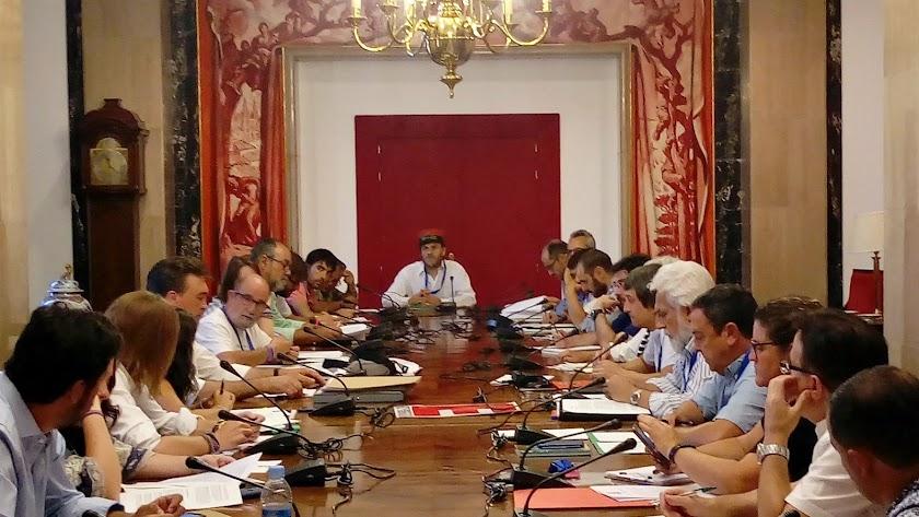 Reunión celebrada en el Congreso de los Diputados.
