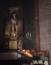 Photo: Mutter Gottes im Dom zu Worms Kerze angezündet!