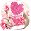 Pink Heart Glitter Keyboard Theme