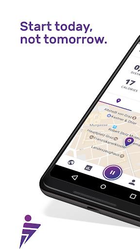 Running Walking Jogging Hiking GPS Tracker FITAPP  screenshots 1