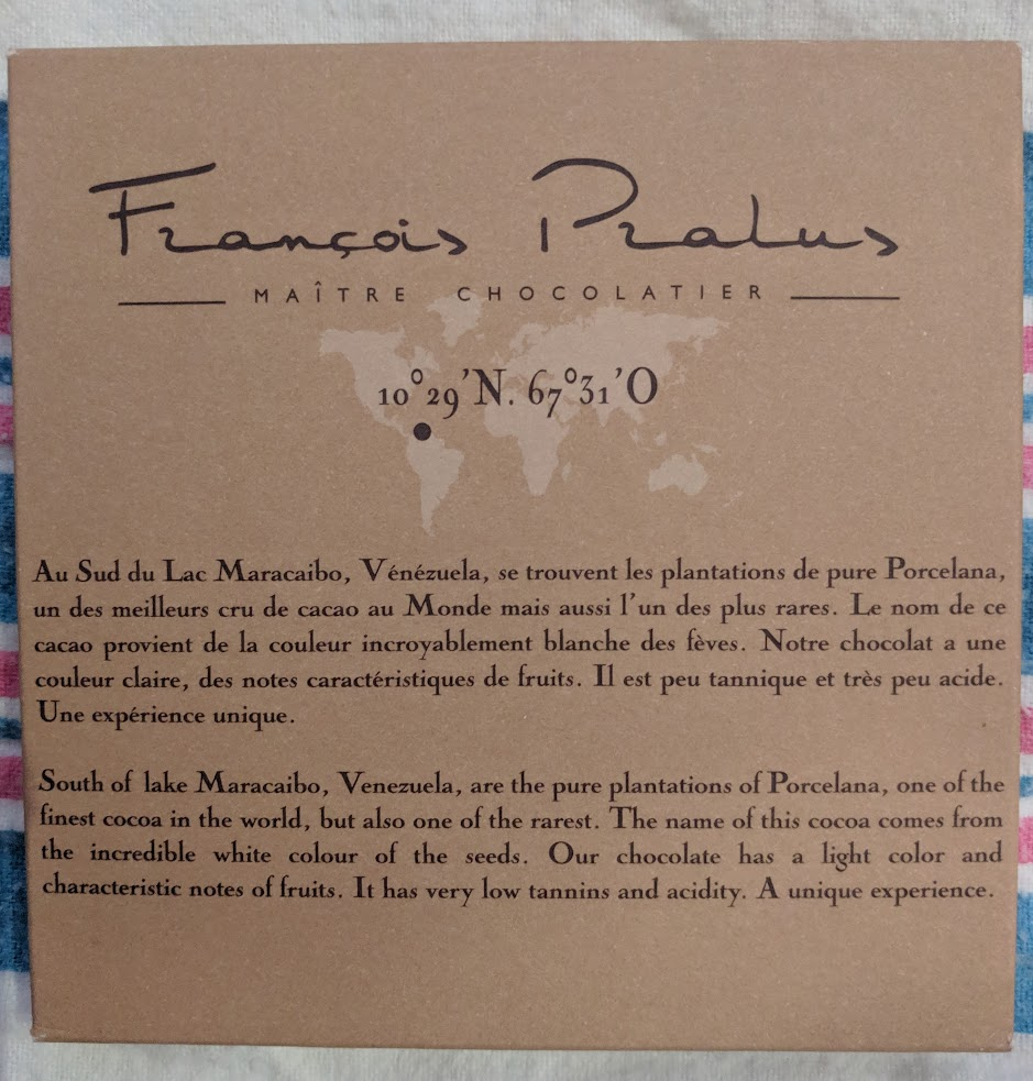 75% pralus porcelana bar
