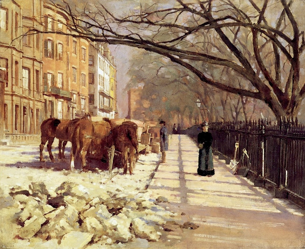 Beacon Street, Boston by Theodore Robinson - 1884