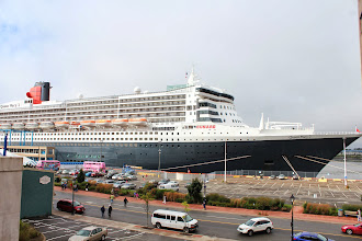 Photo: Queen Mary II was in the harbour at Saint John.