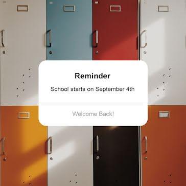 School Start Reminder - Instagram Post template