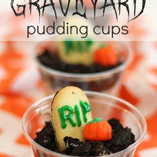 Halloween Graveyard Pudding Cups