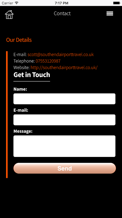 Southend Airport Travel- screenshot