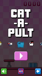 Cat-A-Pult: Toss 8-bit kittens- screenshot thumbnail