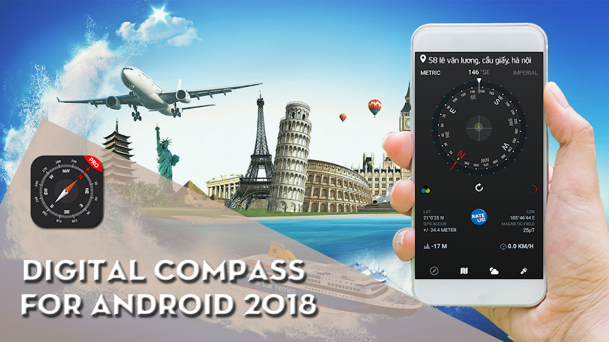 download digital compass for android