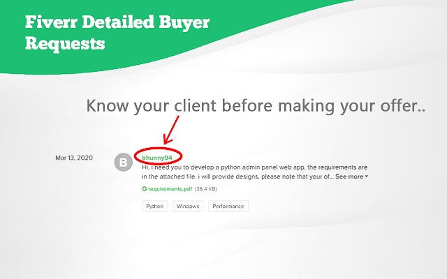 Fiverr Detailed Buyer Requests