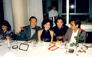 Photo: Mary Kantor, Philip Chan, the mysterious Nancy Lee with Sally and Tony Law.
