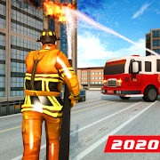 Fire Truck Driving: Helicopter Rescue