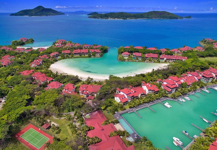 Anse Bernik beach on Eden Island in Seychelles, showing a mix of apartments, maisons and villas. Picture: SUPPLIED/PAM GOLDING INTERNATIONAL