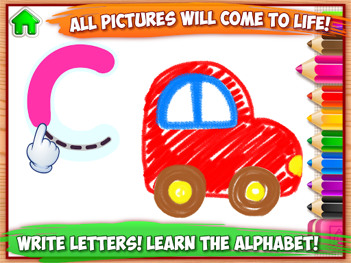 ABC DRAW ud83cudfa8 Kids Drawing! Alphabet Games Preschool  screenshots 7