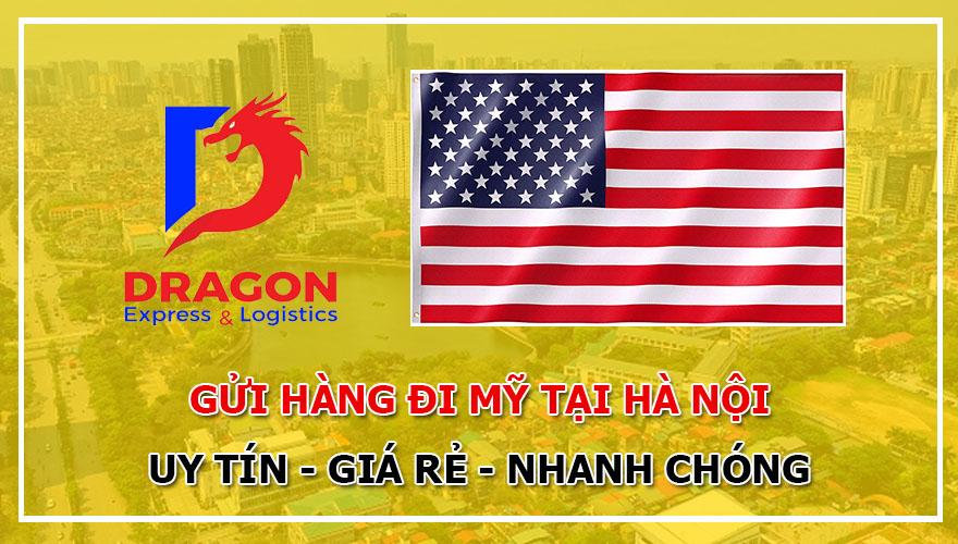 Cước gửi hàng đi Mỹ tại Hà Nội giá rẻ với Dragon Express