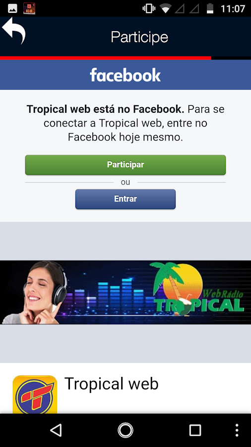 Web Rádio Tropical- screenshot