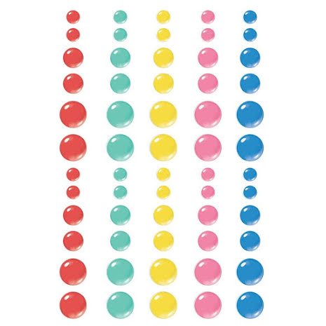 Simple Stories Enamel Dots 60/Pkg - Sunkissed