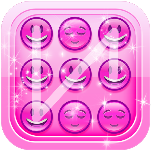 Pink Emoji Lock Screen Pattern