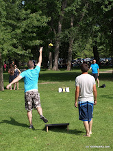 Photo: Lawn games at Sand Bar State Park by Matt Parsons
