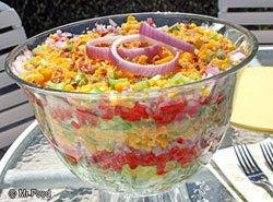 Chilled Stacked Salad Recipe